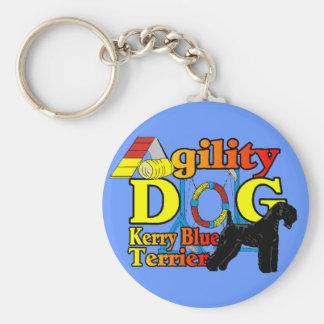 Kerry_Blue_Terrier_Agility Schlüsselanhänger