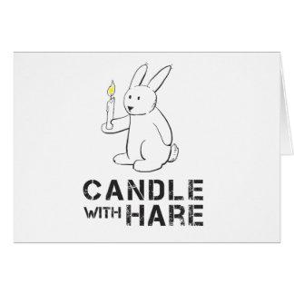Kerze mit Hasen - Produkt Grußkarte