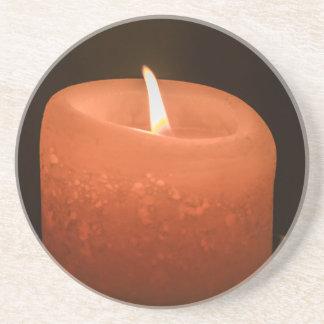 Kerze Sandstein Untersetzer