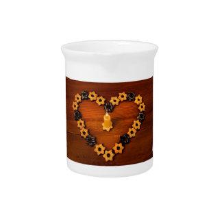 Kerze und Plätzchen Getränke Pitcher