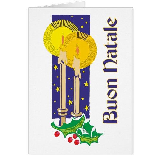 Kerzen candles Buon Natale Karte