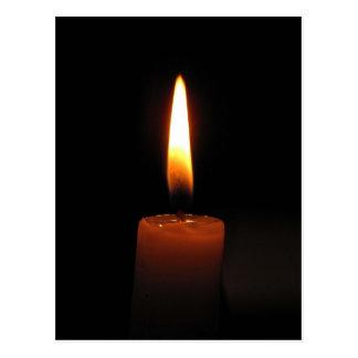 Kerzen-Flamme Postkarte