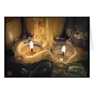 Kerzen-Glühen-Duo-Gruß-Karte