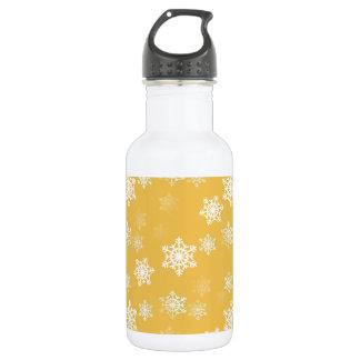 Kerzen-Glühen-gelbe und weiße Schneegestöber Edelstahlflasche