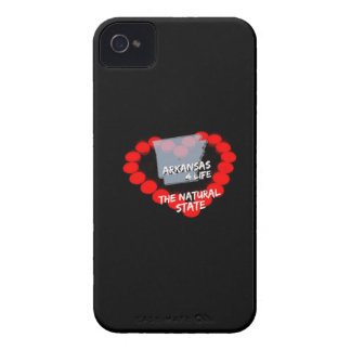 Kerzen-Herz-Entwurf für den Staat von Arkansas iPhone 4 Case-Mate Hülle