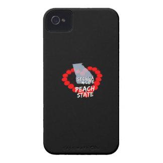 Kerzen-Herz-Entwurf für den Staat von Georgia iPhone 4 Etuis