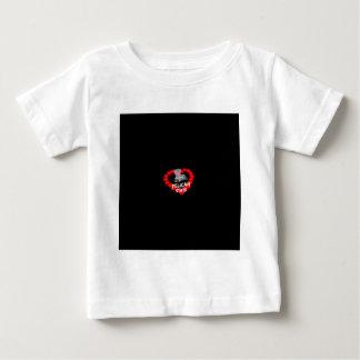 Kerzen-Herz-Entwurf für den Staat von Louisiana Baby T-shirt