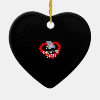 Kerzen-Herz-Entwurf für den Staat von Missouri Keramik Herz-Ornament