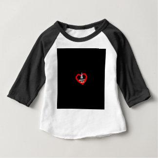 Kerzen-Herz-Entwurf für den Staat von New Baby T-shirt