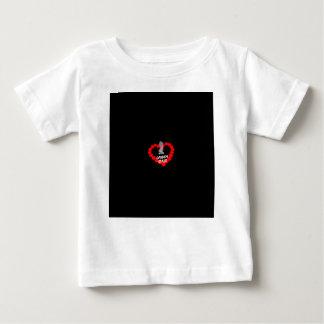 Kerzen-Herz-Entwurf für den Staat von New-Jersey Baby T-shirt