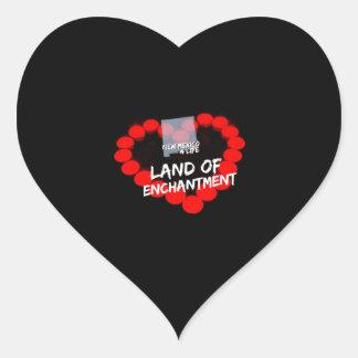 Kerzen-Herz-Entwurf für den Staat von New-Mexiko Herz-Aufkleber