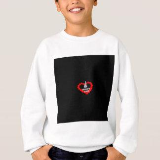 Kerzen-Herz-Entwurf für den Staat von New Sweatshirt