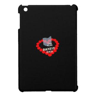Kerzen-Herz-Entwurf für den Staat von Ohio iPad Mini Hülle