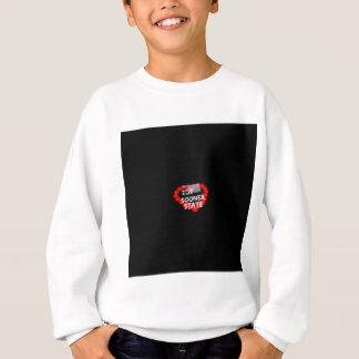 Kerzen-Herz-Entwurf für den Staat von Oklahoma Sweatshirt