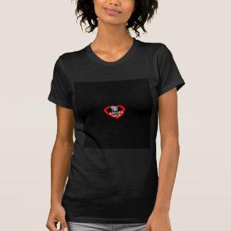 Kerzen-Herz-Entwurf für Wisconsin-Staat T-Shirt