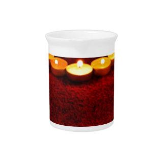 Kerzen Herz-Flammen-Liebevalentine-Romance Feuer- Krug