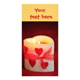 Kerzen-Herz-Valentinstag-Karte Karte