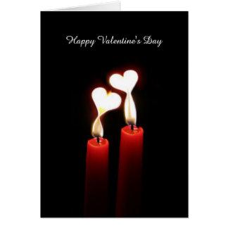 Kerzen-Herzen - romantische Valentinstag-Karte Karte