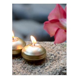 Kerzen und Wasser Postkarten