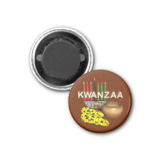 Kerzen von Kwanzaa - Magnets