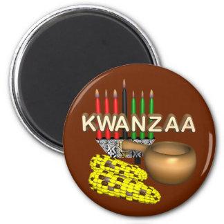 Kerzen von Kwanzaa - Magnete