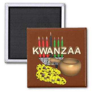 Kerzen von Kwanzaa - Kühlschrankmagnet