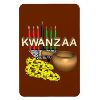 Kerzen von Kwanzaa - Magnet