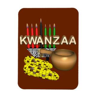 Kerzen von Kwanzaa - Recchteckiger Magnet