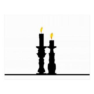 Kerzenständerillusion Postkarte