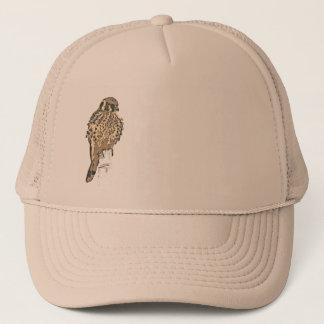 Kestral Vogel-Tier-Tier-Raubvogel-Sumpfgebiete Truckerkappe