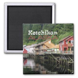 Ketchikan Alaska Reise-Andenken-Kühlschrankmagnete Quadratischer Magnet