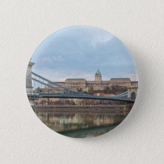 Kettenbrücke mit Buda Schloss Ungarn Budapest Runder Button 5,7 Cm