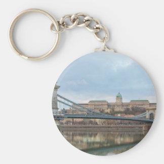 Kettenbrücke mit Buda Schloss Ungarn Budapest Schlüsselanhänger