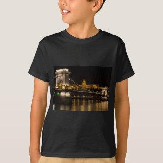Kettenbrücke mit Buda Schloss Ungarn Budapest T-Shirt