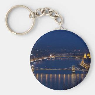 Kettenbrücke Ungarn Budapest nachts Schlüsselanhänger
