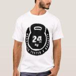 Kettlebell: Hardstyle prüfte u. anerkanntes 24kg T-Shirt