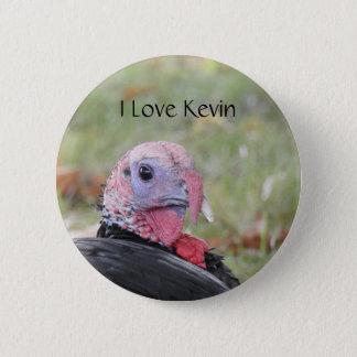Kevin die Türkei - altes Wethersfield, CT Runder Button 5,7 Cm