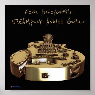 Kevin Honecutts STEAMpunk Ashlee Gitarrenplakat Poster