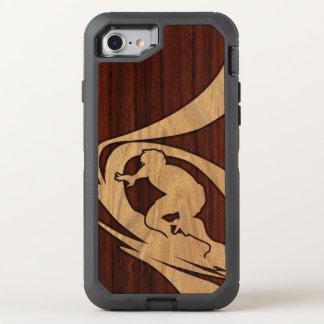 Kewalos hawaiisches Surfer-Imitat hölzern OtterBox Defender iPhone 8/7 Hülle