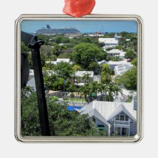 Key West 2016 (203) Quadratisches Silberfarbenes Ornament