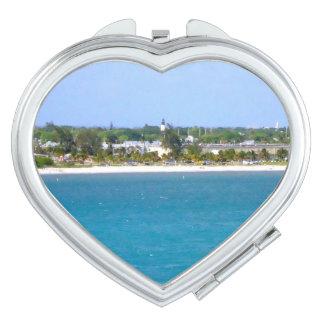 Key West-Küstenlinie-Herz-Form und drei andere Taschenspiegel