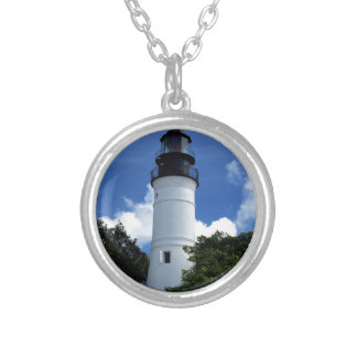 Key West-Leuchtturm Versilberte Kette