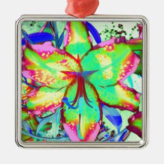 Key West-Lilie Silbernes Ornament