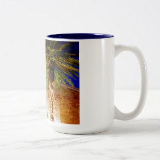 Key West-Palmen Zweifarbige Tasse