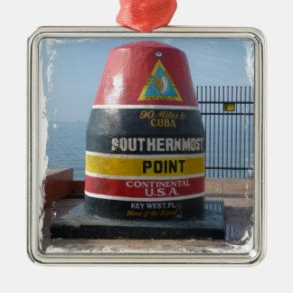 Key West Silbernes Ornament