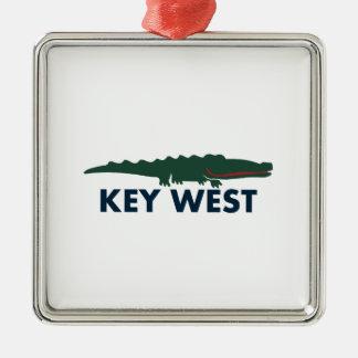 Key West. Silbernes Ornament