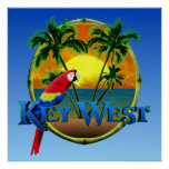 Key West-Sonnenuntergang Poster