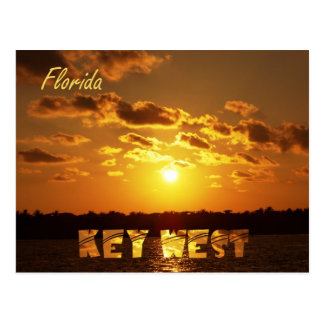 Key West-Sonnenuntergang Postkarte