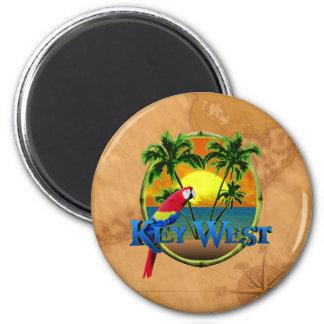 Key West-Sonnenuntergang Runder Magnet 5,1 Cm