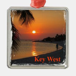 Key West-Sonnenuntergang Silbernes Ornament